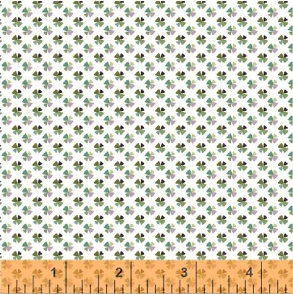 Bilde av Little Tinies - 4 mm multi småmønstret grønn lilla på hvit