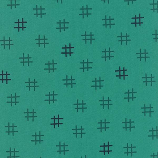 Bilde av 50 cm Basic Mixologie - 15 mm sjøgrønne & mørkblå kryss på sjøgr