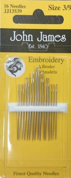 Bilde av John James - embroidery nåler - 16 st str 3/9