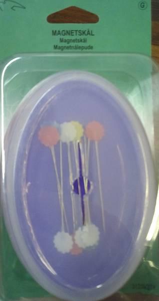 Bilde av Magnet-nålepute med lokk - lilla eller blå