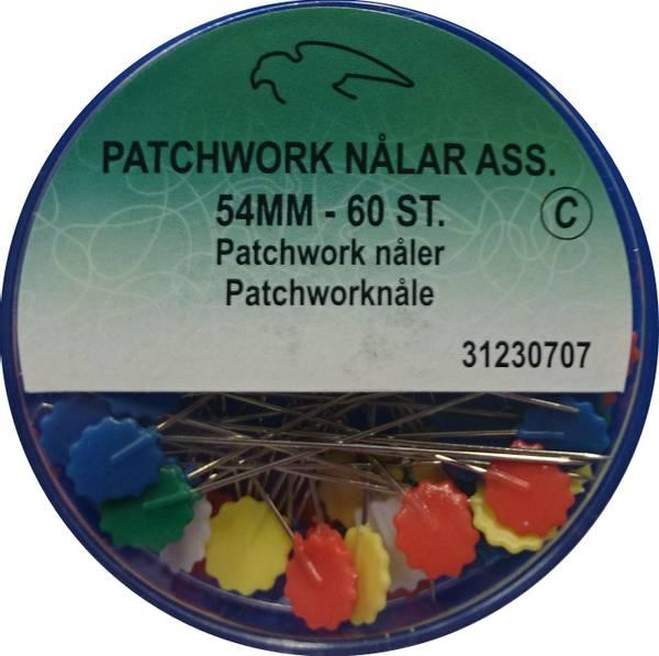 Bilde av Patchworknåler med flat hode i plast