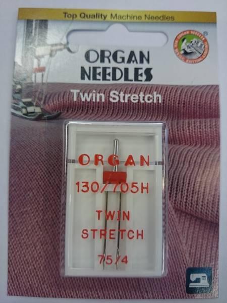 Bilde av Organ symaskinnål - 1 st., Tvilling Stretch 4 mm, str. 75
