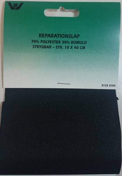 Bilde av Reparaturlapper - til stryking, 10 x 40 cm, sort
