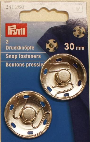 Bilde av Trykknapper til å sy på, 30 mm, fornikkelt, 2 st.