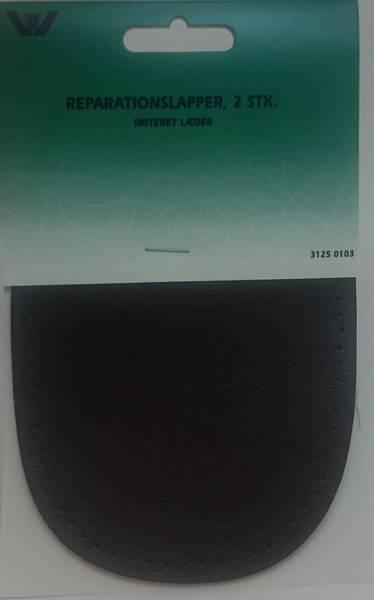 Bilde av Reparaturlapper oval - imitert skinn - 2 st. mørkbrun - til å sy