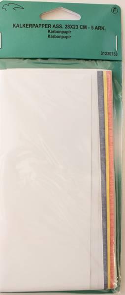 Bilde av Karbonpapir - kalkerpapir - 5 ark