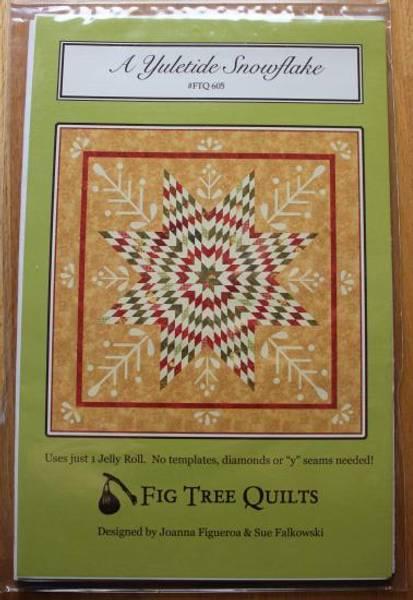 Bilde av A Yuletide Snowflake - Jelly Roll mønster av Fig Tree