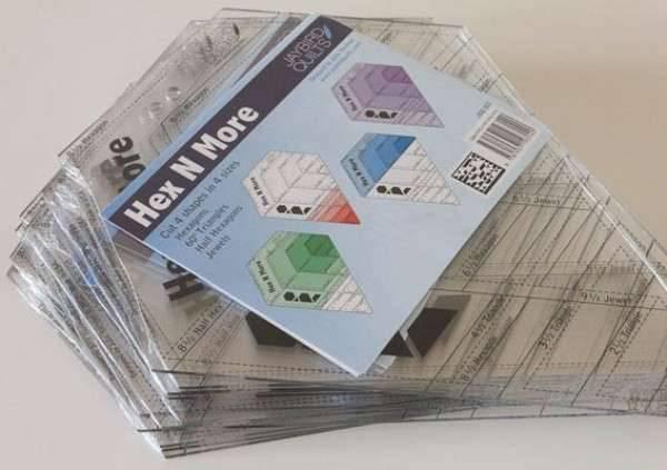 Bilde av Hex'n'more ruler - Jaybird Quilts - linjal til sekskanter