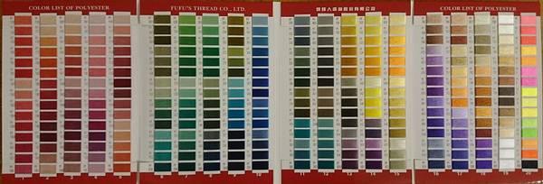 Bilde av Fargekart fufu-tråd med ekte tråd