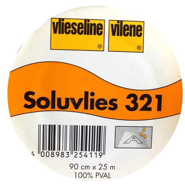 Bilde av Freudenberg Vlieseline 321 - Soluvlies hvit - vannløselig vlies