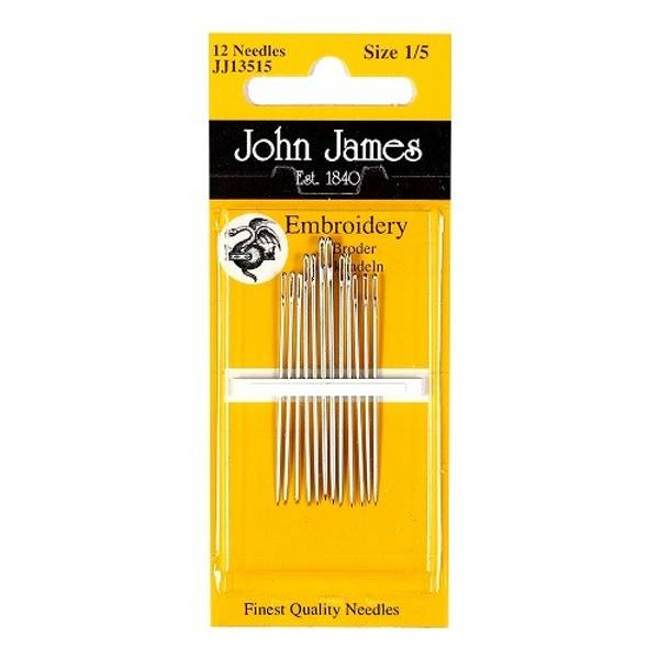 Bilde av John James - embroidery nåler, str. 1/5, 12st