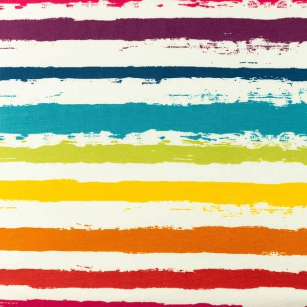 Bilde av Bomullsjersey - ca 12 mm striper - multifarget