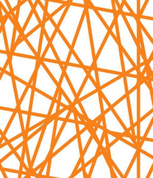 Bilde av Stripes - 5 mm oransje krysstvers striper på hvit