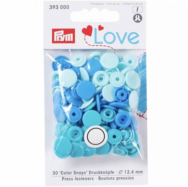 Bilde av Prym KAM snaps - 30 knappesett - glans - 12,4mm - multi blå