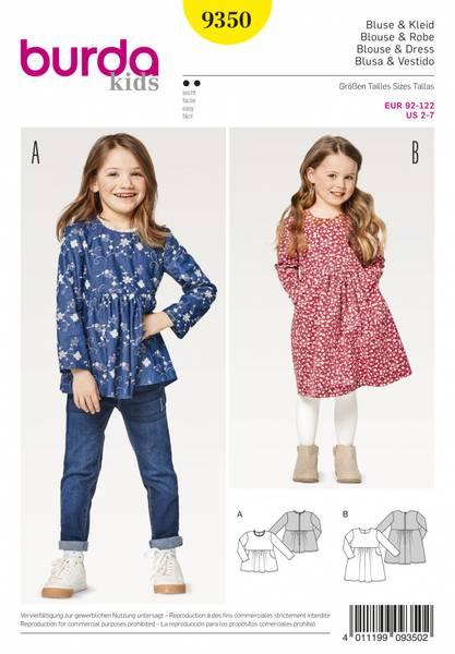 Bilde av 9350 - Burda - Bluse & kjole