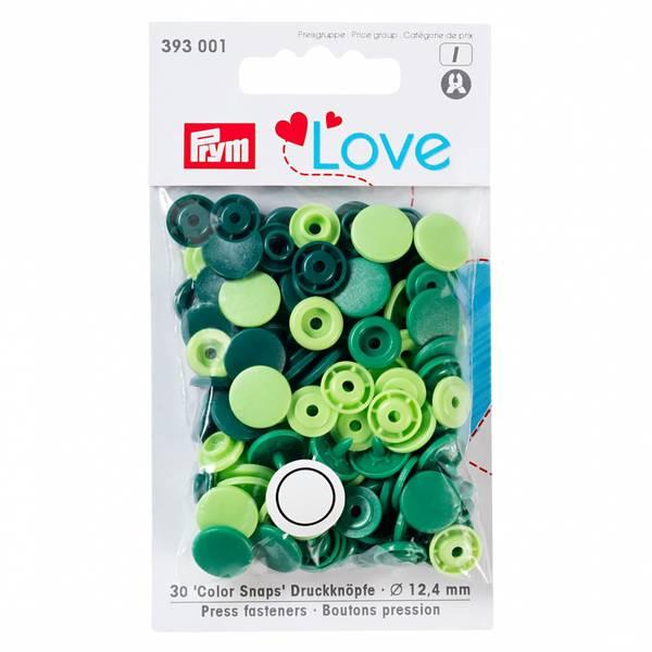 Bilde av Prym KAM snaps - 30 knappesett - glans - 12,4mm - multi grønn
