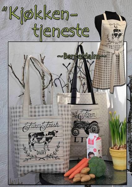 Bilde av Bente Malm 193 - Kjøkkentjeneste - handlenett, forkle