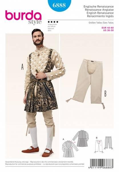 Bilde av 6888 - Burda - Engelsk Renaissance - overdel, bukse
