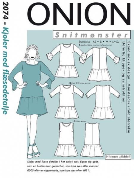 Bilde av Onion 2074 - kjole med rysje-detajler