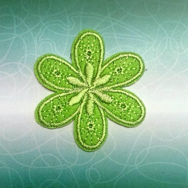 Bilde av Symerke med lim - 4,5 cm blomst, limegrønn