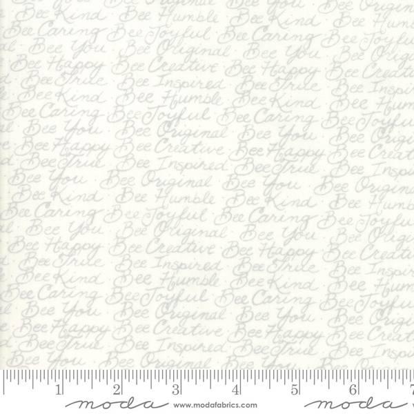 Bilde av 50 cm Bee Joyful - grå 5 mm tekst på offwhite