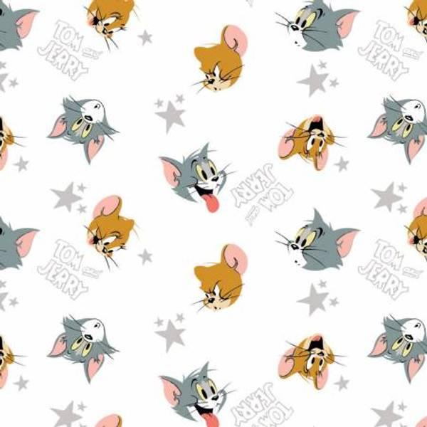 Bilde av Tom & Jerry - 2 cm hoder på hvit