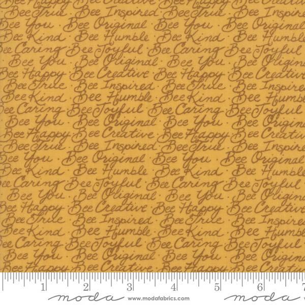 Bilde av Bee Joyful - 5 mm tekst på mørk honningfarget