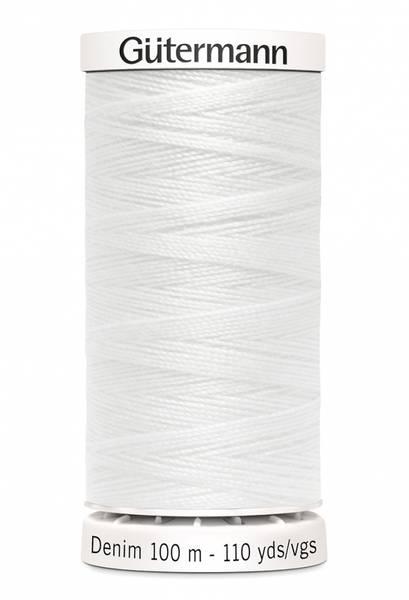 Bilde av Denim - proff tråd - 100 m, hvit, fv. 1016