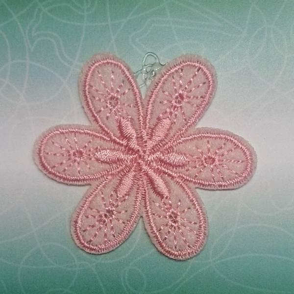 Bilde av Symerke med lim - 4,5 cm blomst, rosa