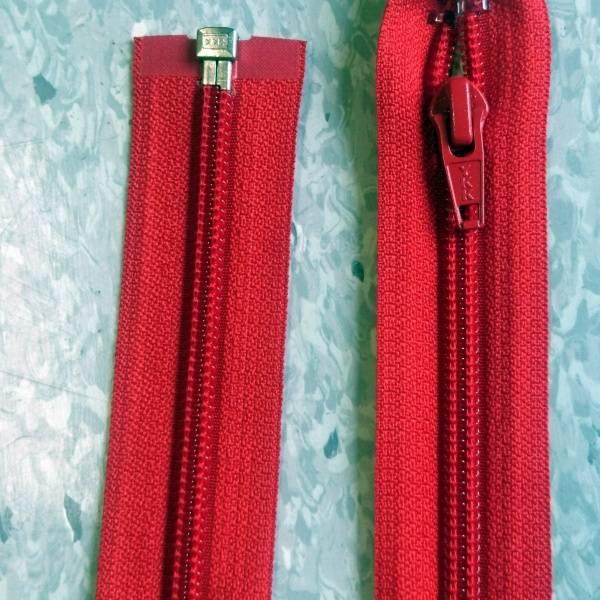Bilde av Rød jakke glidelås, 6mm delbar spiral