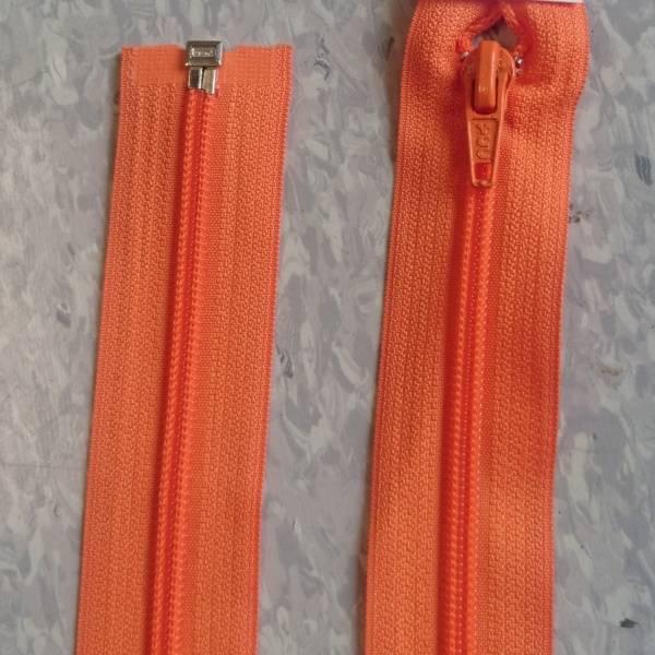 Bilde av Oransje jakkeglidelås, 6mm delbar spiral