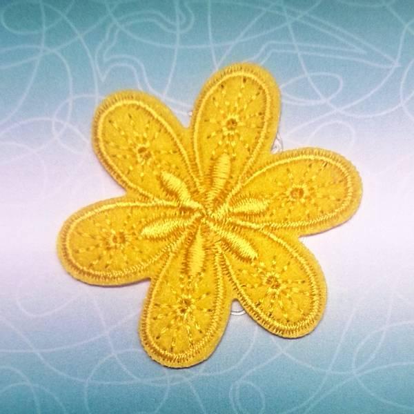 Bilde av Symerke med lim - 4,5 cm blomst, gul
