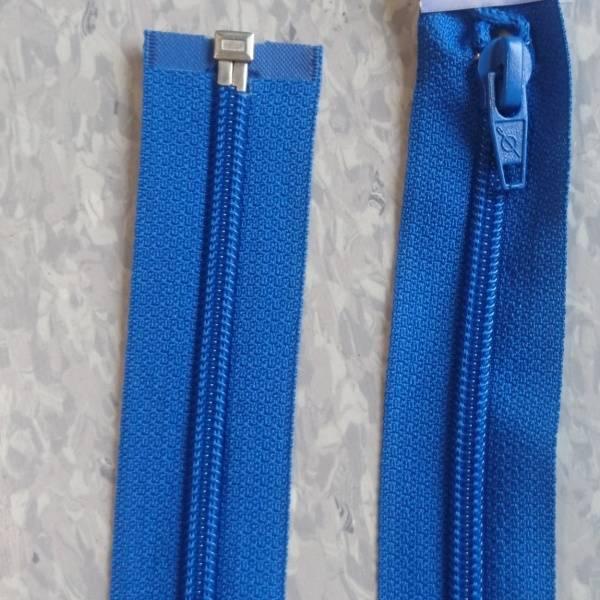 Bilde av Koboltblå jakkeglidelås, 6mm delbar spiral