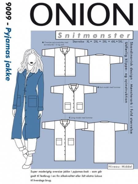 Bilde av Onion 9009 - jakke i pyjamas stil, plusssize