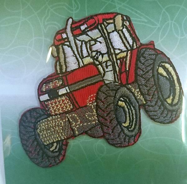 Bilde av Symerke med lim - Traktor rød - 5x7 cm