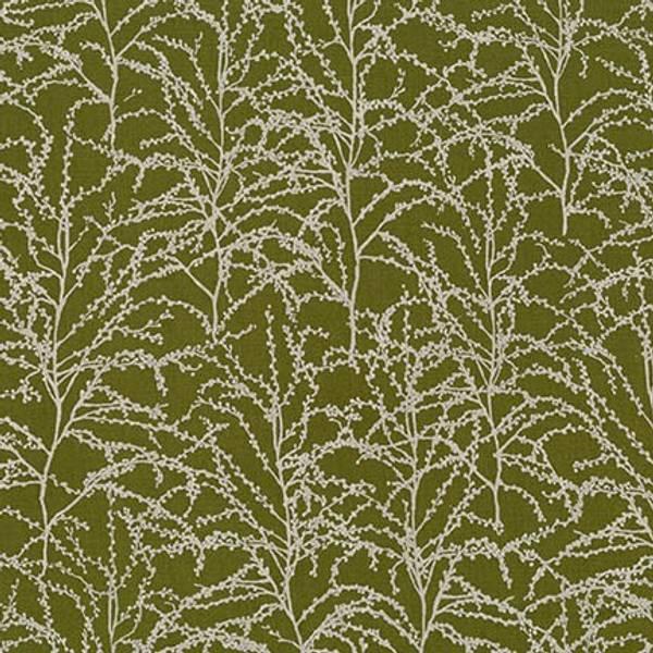 Bilde av Winter Shimmer - sølv greinmønster på mørk oliven