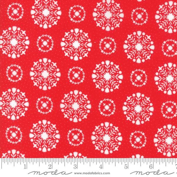 Bilde av Vintage Holiday - 2-3 cm hvit runding på rød