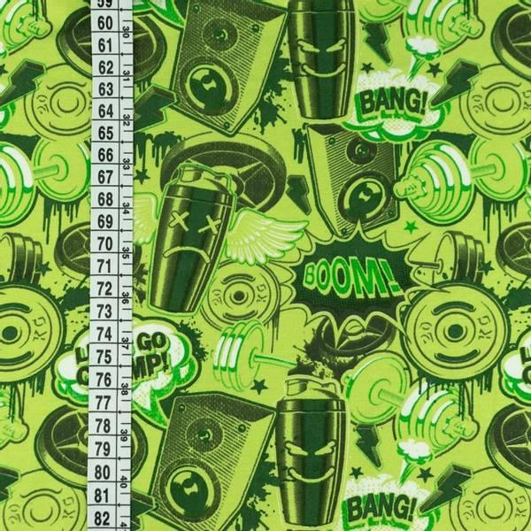 Bilde av Bomullsjersey - Let's Go Champ - grønn