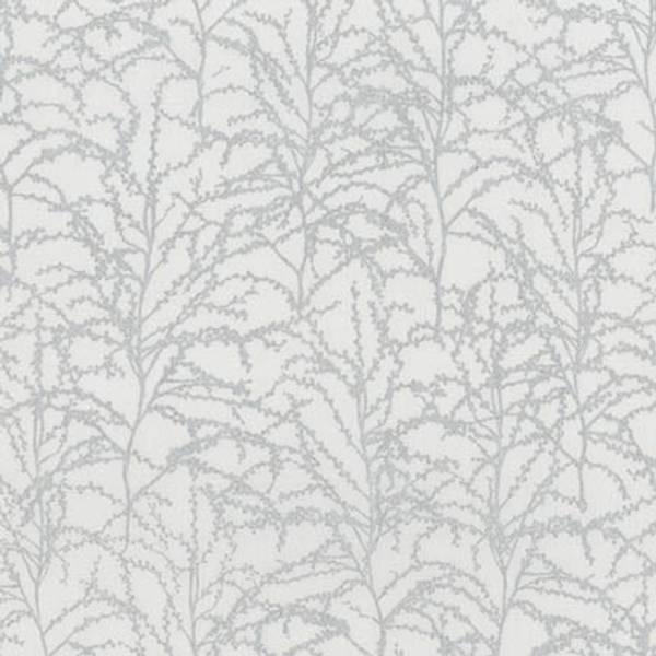 Bilde av 45 cm Winter Shimmer - sølv greinmønster på lysgrå