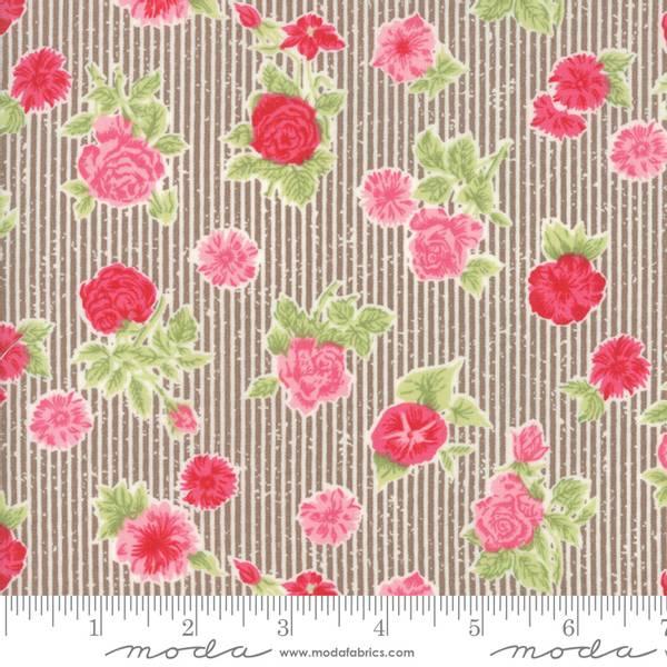 Bilde av 45 cm Cottontale cottage - 2-4 cm blomster på striper
