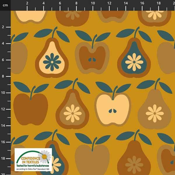 Bilde av Avalana bomullsjersey - 6 cm retrofrukt på oransje