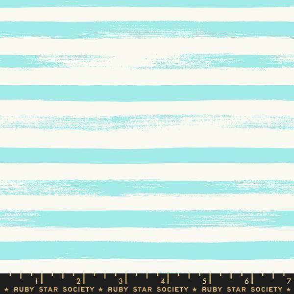 Bilde av Pop & Zip - 1 cm striper - aqua-offwhite