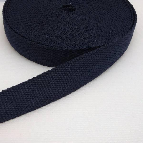 Bilde av Bomullswebbing - marine 2,8 cm bred bånd