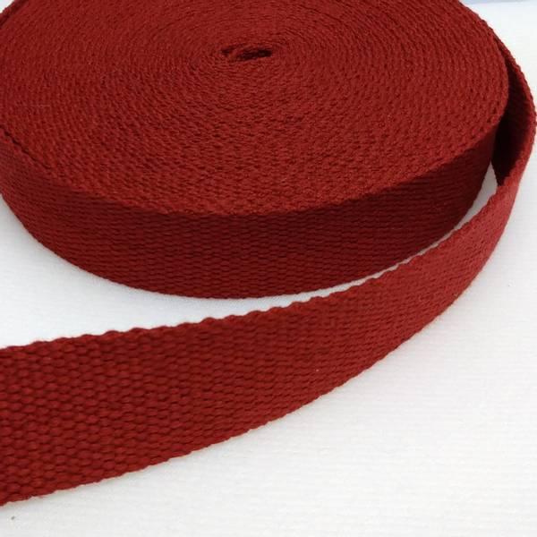 Bilde av Bomullswebbing - mørkrød 3,2 cm bred bånd