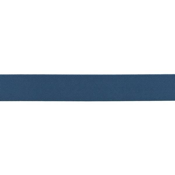 Bilde av Myk strikk, 2,5 cm, uni - jeansblå
