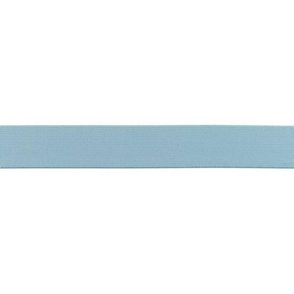 Bilde av Myk strikk, 2,5 cm, uni - lys dusblå