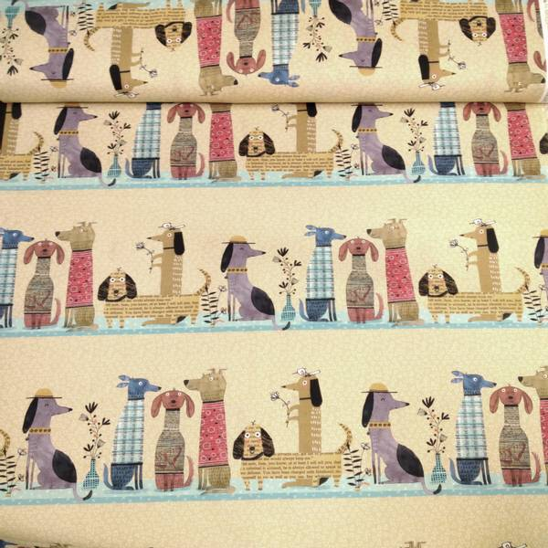 Bilde av It's raining cats & dogs - 15 cm rader med hunder