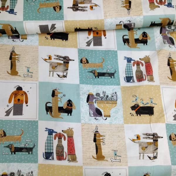 Bilde av It's raining cats & dogs - hunder - 10 cm ruter