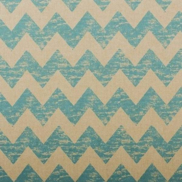 Bilde av Linlook sikksakk - 2 cm bred turkis marmorerte striper