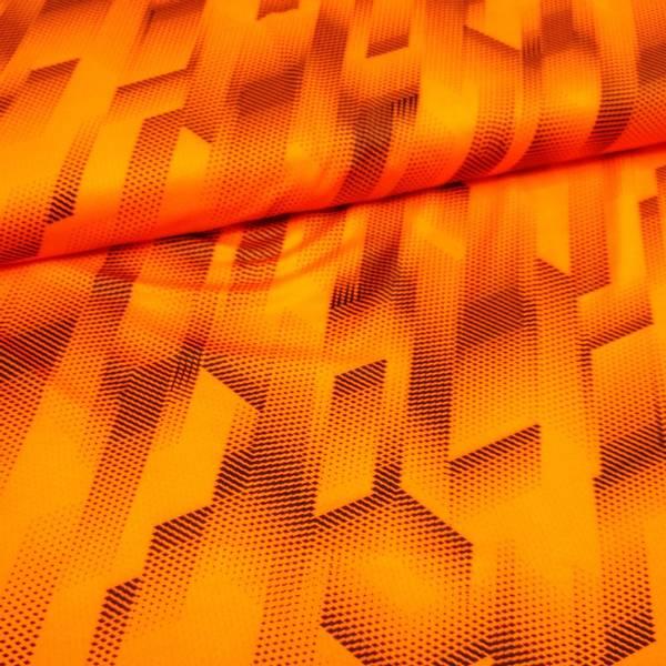 Bilde av Funksjonsjersey - sportjersey, sort mønster på oransje